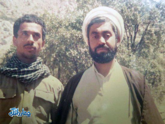 تصاویر منتشر نشده  از حضور حجت الاسلام دکتر تیموری در جنگ تحمیلی
