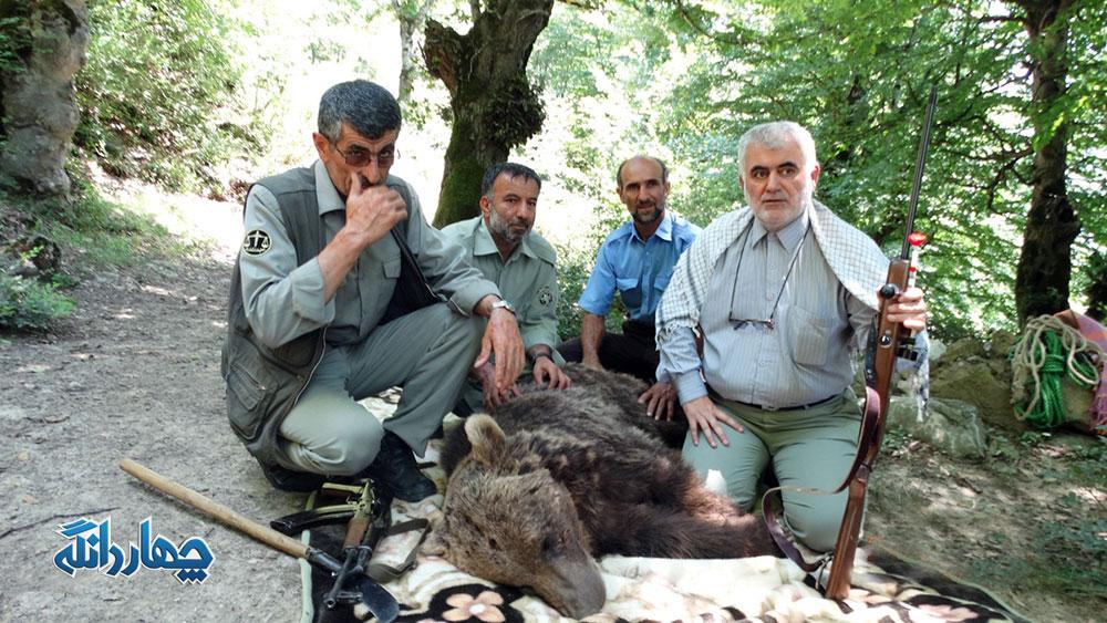 تصاویر اختصاصی از نجات خرس گرفتار شده در بین سیم خاردار