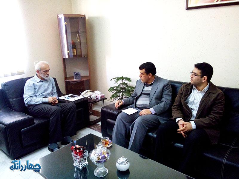 دیدار همکاران پایگاه خبری چهاردانگه با مدیرکل فرهنگ و ارشاد استان