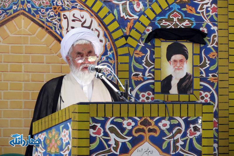 صوت کامل اولین نماز جمعه بخش چهاردانگه در سال 1396 + تصاویر