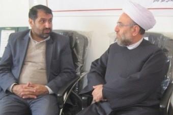 نشست مشترک رئیس تبلیغات اسلامی چهاردانگه با بخشدار