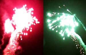 تصاویری از آسمان نورانی کیاسر در شب پیروزی انقلاب