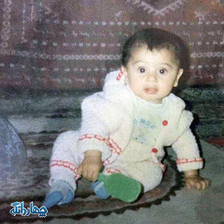 تصویری از کودکی امید عالیشاه، بازیکن چهاردانگه ای پرسپولیس