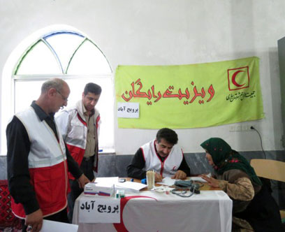 ويزيت رايگان بيماران در روستاي پرويج آباد