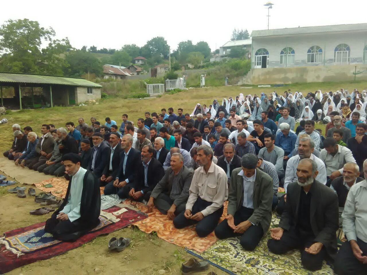 گزارش تصویری نماز عید فطر در روستای خالخیل