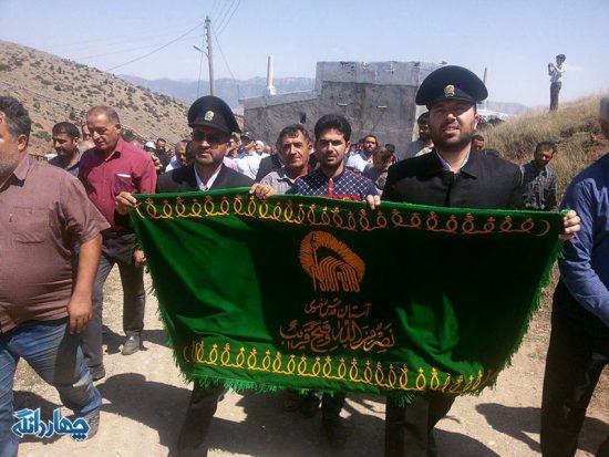 گزارش تصویری حضور خدام امام رضا(ع) در روستای کلکنار