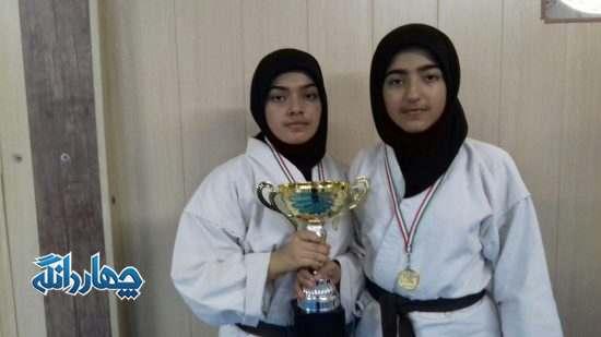 درخشش خیره کننده دو خواهر چهاردانگه ای در مسابقات کشوری کاراته+ تصاویر