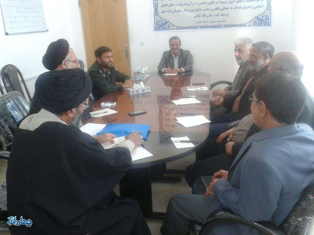 برگزاری جلسه ستاد یادواره سرداران و ۲۱۰ شهید چهاردانگه