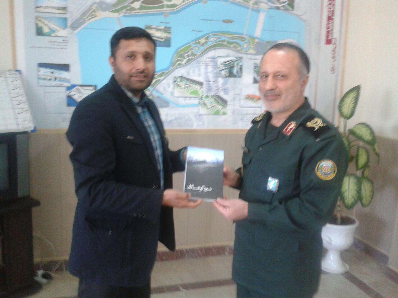 دیدار فرمانده بسیج چهاردانگه با مدیر کل  سازمان نشر و حفظ آثار دفاع مقدس مازندران