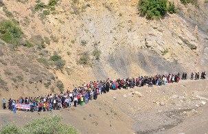 برگزاري همایش پیاده روی خانوادگی در روستاي بالاده