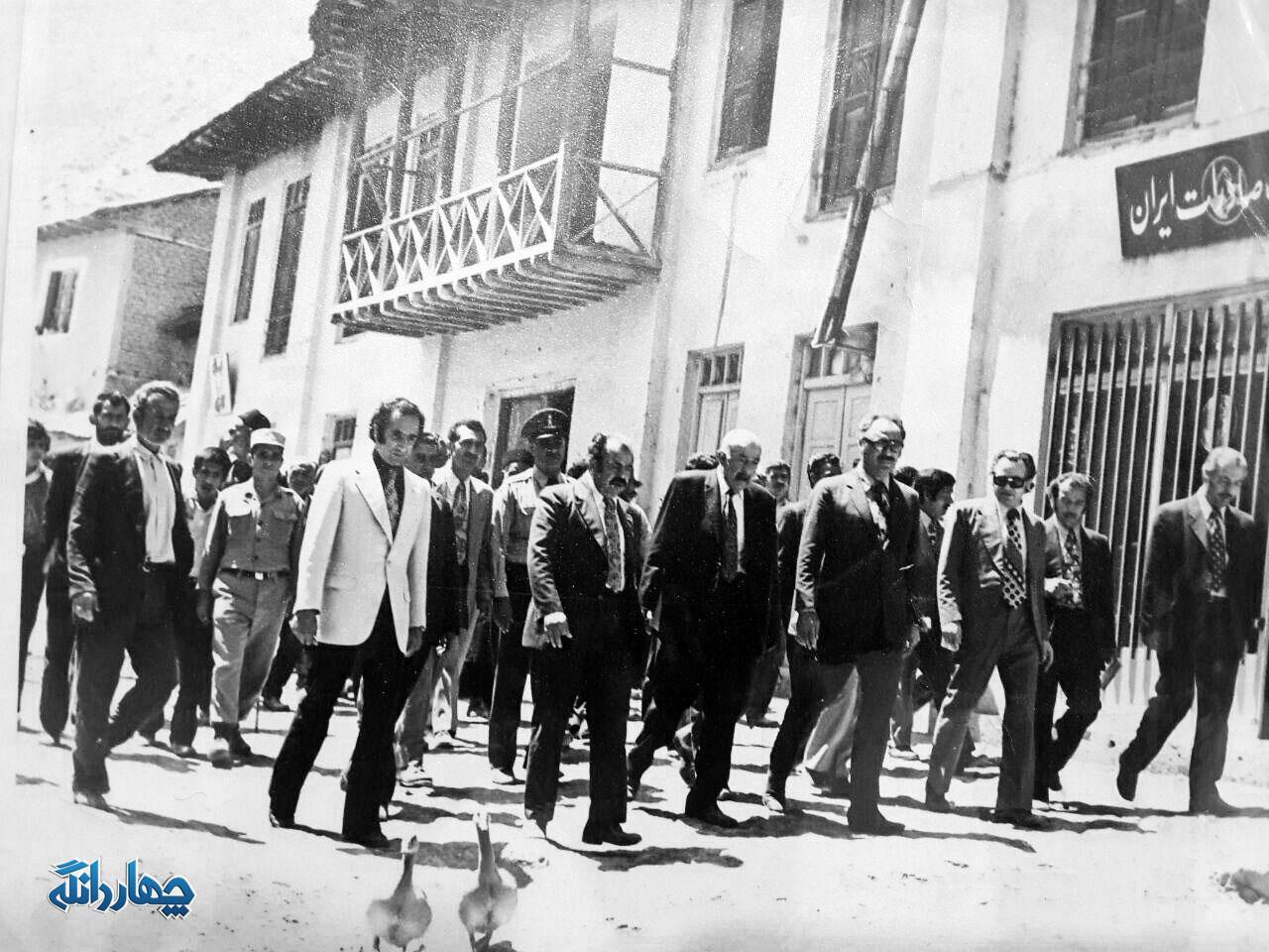 عکس قدیمی از افتتاحیه بانک صادرات کیاسر - محله آهنگرخیل