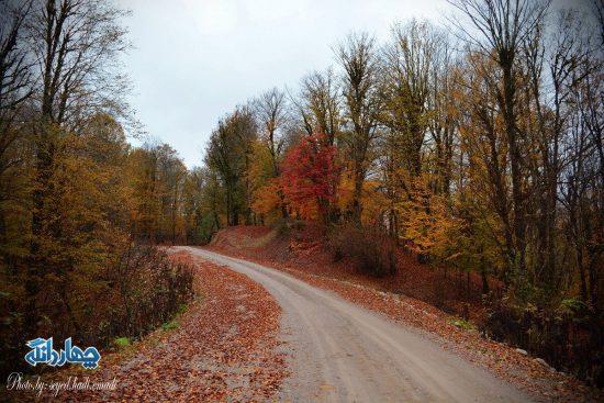 تصاویری زیبا از پاییز روستای سرخ ولیک