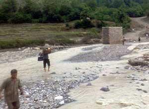 بارندگی بخشی از سردهنه های رودخانه های چهاردانگه را تخریب کرد
