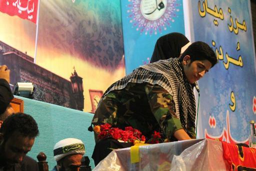 گزارش تصویری از مراسم وداع با شهدای مدافع حرم شهرستان بهشهر