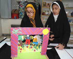 اجراي تئاتر كاغذي در كانون پرورش فكري كودكان مركز كياسر