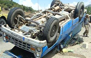 جاده ساری - کیاسر ( محور مرگ ) دوباره قربانی گرفت!