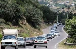 ترافیک سنگین در جاده ساری - کیاسر