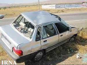 واژگونی خودرو پراید در محور ساری – کیاسر