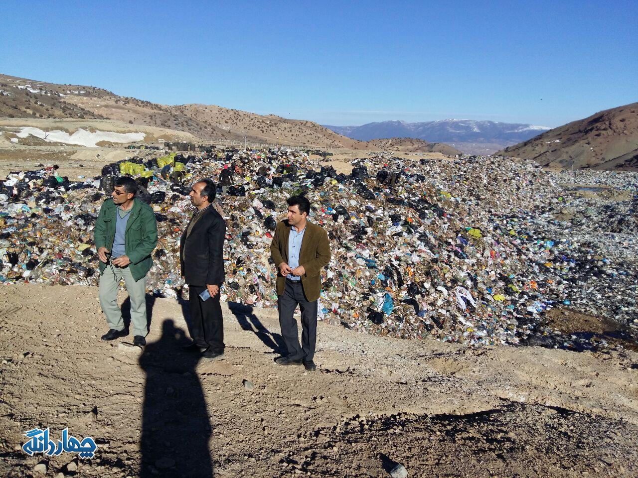 گزارش از وضعیت دپوی زباله ساری در پشتکوه چهاردانگه